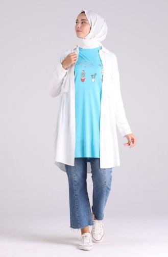 Turquoise T-Shirt 8134-09