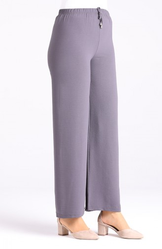 Aerobin Fabric Elastic waist wide Leg Pants 8142-15 Anthracite 8142-15