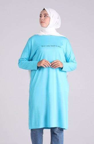 Sweatshirt Turquoise 8143-08
