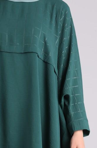 طقم أخضر زمردي 1002-01