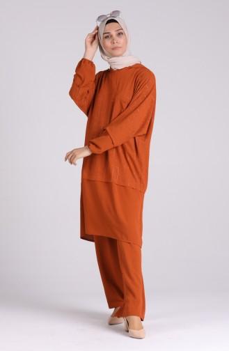 Ziegelrot Anzüge 1004-01
