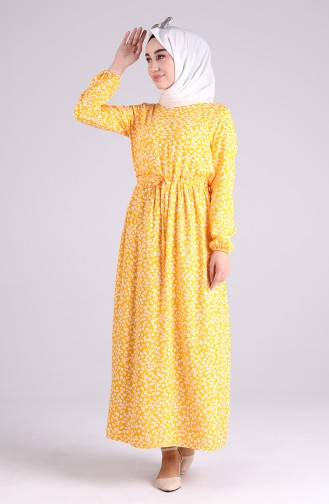 Gelb Hijap Kleider 2301-01
