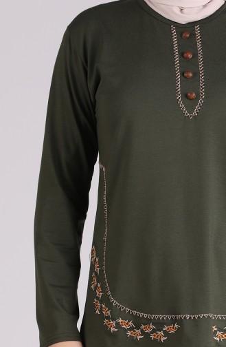 Khaki Blouse 0536-05