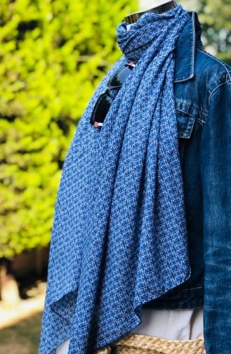 Blau Schal 54306-01
