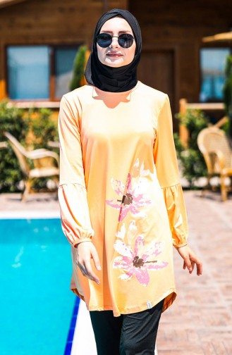 Pinkish Orange Swimsuit Hijab 2013