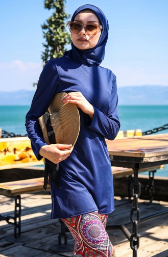 Navy Blue Swimsuit Hijab 1009