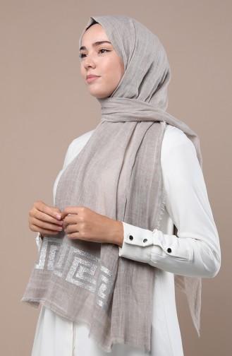 شال رمادي فضي 3280-03