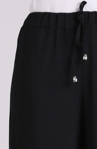 Aerobin Kumaş Bol Paça Yürüyüş Pantolonu 2000-12 Siyah