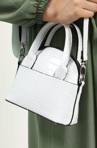 حقيبة كتف أبيض 407-105