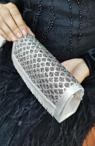 Silbergrau Portfolio Handtasche 317115-208
