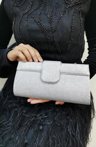 Silbergrau Portfolio Handtasche 494111-208
