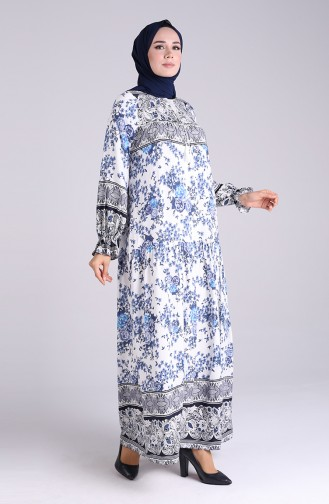 Robe Hijab Bleu Marine 5160-01