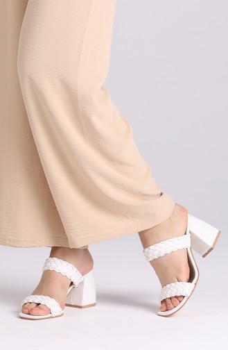 White Summer slippers 0810-04