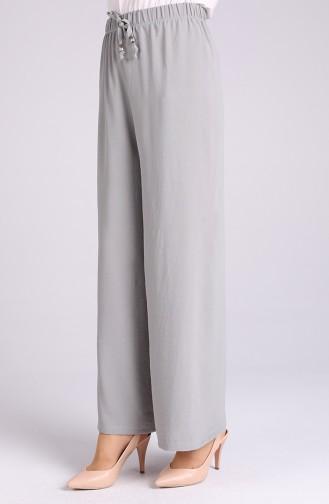 Aerobin Fabric Elastic waist wide-leg Trousers 5459-20 Water Green 5459-20