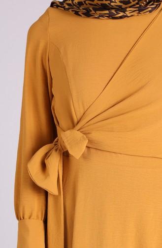 Robe Hijab Moutarde 0056-01
