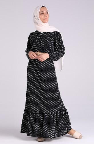 Belted Gathered Dress 4466-02 Black 4466-02
