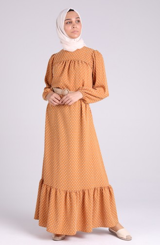 Robe Hijab Tabac 4466-04