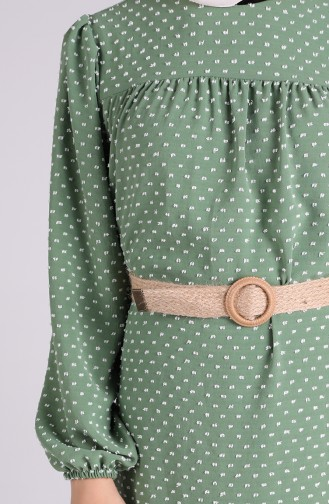 Robe Hijab Vert noisette 4466-05