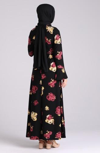 Schwarz Hijap Kleider 5885-02