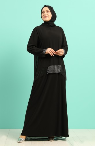 Habillé Hijab Noir 6301-03