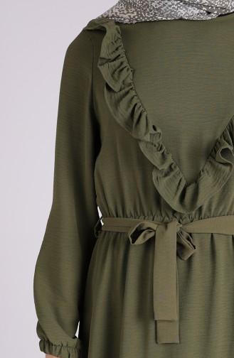 فستان أصفر خردل 0053-04