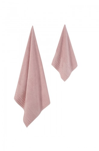 Dusty Rose Handdoek en Badjas set 631-01