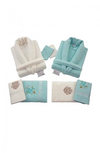 Creme Handtuch und Bademantel-Sets 000571-03
