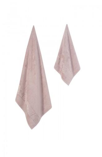 Dusty Rose Handdoek en Badjas set 000685-02