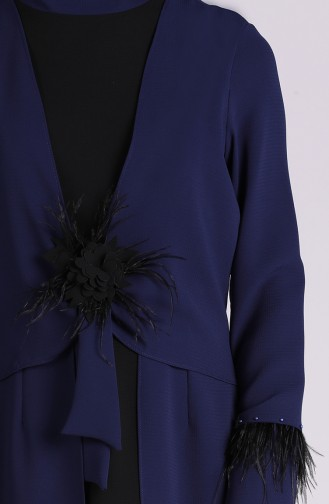 Feathered Tunic Trousers Double Suit 5097-03 Navy Blue 5097-03