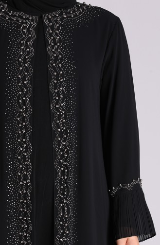 Plus Size Pearl Evening Dress 4578-02 Black 4578-02
