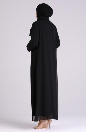 Habillé Hijab Noir 4580-01