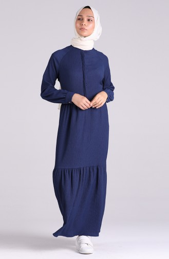 Robe Hijab Bleu Marine 5299-06