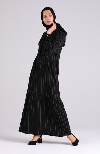 Robe Hijab Noir 5299C-01