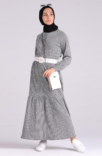 Ruffled Dress 5299d-01 Black 5299D-01