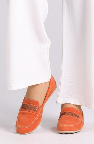 Ballerine Pour Femme Orange 0405-04