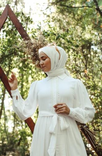 Robe Hijab Blanc 8260-03