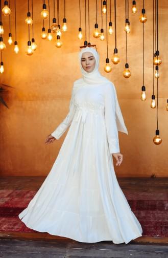 White İslamitische Jurk 8262-01