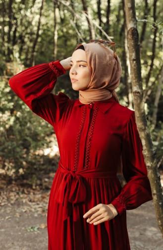 Weinrot Hijap Kleider 8260-01