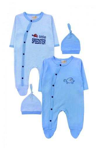Combinaison Bébé Bleu 0114