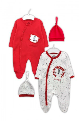 Red Baby Overall 0315