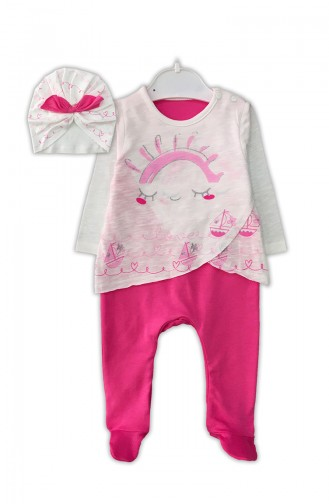 Pink Baby Overall 0335