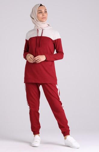 Claret red Trainingspak 3194-01