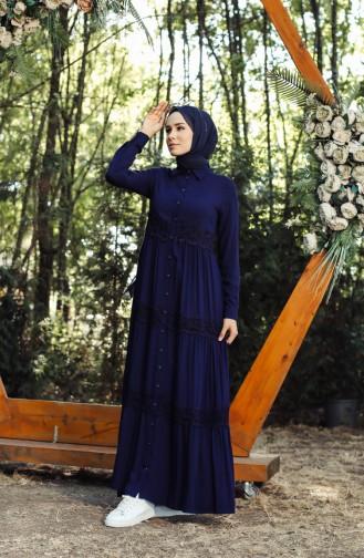 Robe Hijab Bleu Marine 8259-01
