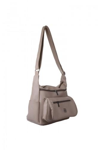 Silver Mink Shoulder Bag 413-022