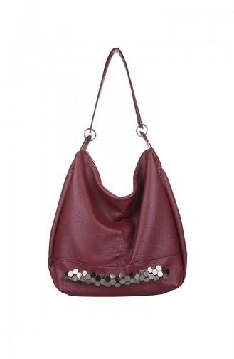 Claret red Shoulder Bag 414-031