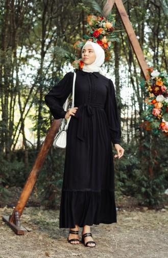 Schwarz Hijap Kleider 8260-05