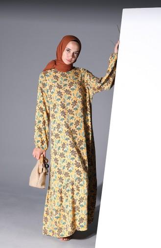 Robe Hijab Moutarde 5322-03