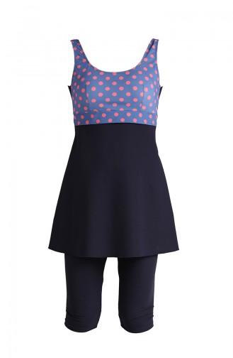 Navy Blue Swimsuit Hijab 0122-06