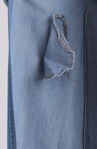 Jeansblau Abayas 9293-01