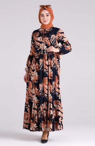 فستان أزرق كحلي 4550-02